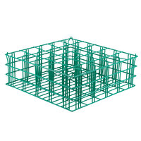 25 Compartment Catering Glassware Basket - 3 1/2 inch x 3 1/2 inch x 4 inch Compartments