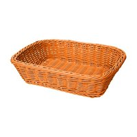GET WB-1508-OR 11 1/2 inch x 8 1/2 inch x 2 3/4 inch Designer Polyweave Orange Rectangular Basket - 12/Case