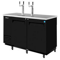 Turbo Air TBD-2SB Black 59 inch Beer Dispenser - 2 Kegs