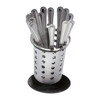 Cal Mil 1226-13-Perf Single Ring Flatware Holder Stand with Perforated Cylinder
