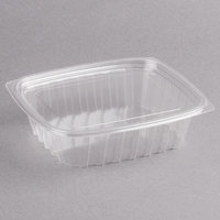 Dart C24DCPR ClearPac 24 oz. Clear Rectangular Plastic Container with Lid - 252/Case