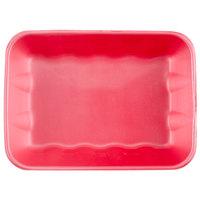 Genpak 1020K (#20K) Foam Meat Tray Rose 11 7/8 inch x 8 3/4 inch x 2 7/16 inch - 100/Case