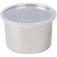 1.5 QT Stainless Steel Food Storage Container with Snap-On Plastic Lid