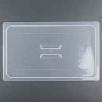 Cambro 10PPCH Full Size Translucent Polypropylene Handled Lid