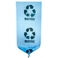 38 Gallon 30 inch X 46 inch Blue Tint Linear Low Density Recycling Bag 1.2 Mil - 100 / Case