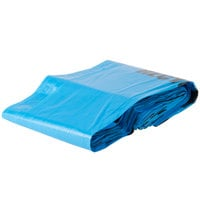 38 Gallon 30 inch X 46 inch Blue Tint Linear Low Density Recycling Bag 1.2 Mil - 100/Case