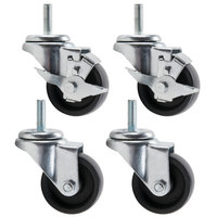 True 883720 3 inch Swivel Stem Casters - 4/Set
