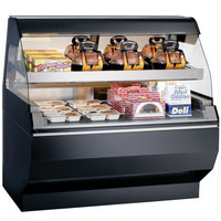 Alto-Shaam ED2SYS-48/2S SS Stainless Steel Two-Tiered Heated Display Case with Curved Glass and Base - Self Service 48 inch