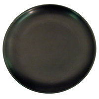 CAC 666-16-BK Japanese Style 10 inch China Coupe Plate - Black Non-Glare Glaze - 12/Case