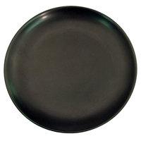 CAC 666-16-BK Japanese Style 10 inch Stoneware Coupe Plate - Black Non-Glare Glaze - 12/Case