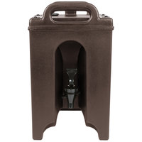Cambro 100LCD131 Camtainer 1.5 Gallon Dark Brown Insulated Beverage Dispenser