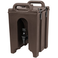 Cambro 100LCD131 Camtainers® 1.5 Gallon Dark Brown Insulated Beverage Dispenser