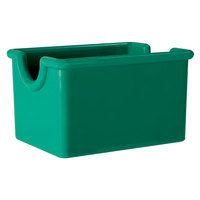 GET SC-66-FG Mardi Gras 3 1/2 inch x 2 1/2 inch Rainforest Green SAN Plastic Sugar Caddy - 24/Case
