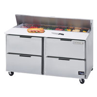 Beverage-Air SPED60HC-16-4 Elite Series 60 inch 4 Drawer Refrigerated Sandwich Prep Table