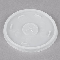 Dart 16SL Translucent Lid with Straw Slot - 100/Pack