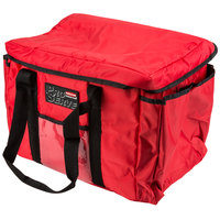 Rubbermaid 9F40 ProServe 15 inch x 12 inch x 12 inch Red Insulated Nylon Sandwich Delivery Bag