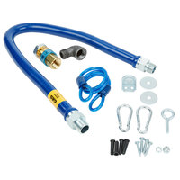 Dormont 16100BPQR48 SnapFast® 48 inch Gas Connector Kit with Restraining Cable - 1 inch Diameter