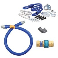 48 inch Dormont 16100BPQR Gas Connector Kit with SnapFast Quick Disconnect and Coiled Restraining Device - 1 inch Diameter