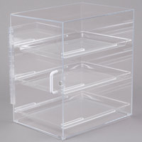 Cal-Mil 257 Classic Three Tier Straight Front Display Case with Rear Door - 11 inch x 15 1/2 inch x 17 inch
