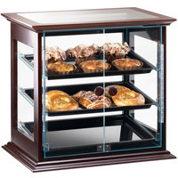 Cal-Mil 284-S-52 Westport Three Tier Wood Frame Display Case with Dual Front Doors - 21 3/4 inch x 18 1/2 inch x 20 1/4 inch