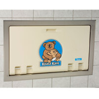 Koala Kare KB100-00ST Horizontal Recessed Mounted Baby Changing Station with Stainless Steel Flange - Cream