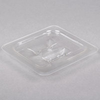 1/6 Size Clear Polycarbonate Food Pan Lid with Handle