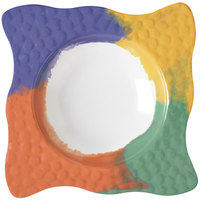GET B-1614-CE Las Brisas 16 oz. Celebration 10 inch Square Bowl - 12/Pack