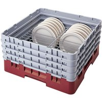 Cambro CRP181112416 Cranberry Full Size PlateSafe Camrack 11 1/2-12 1/2 inch