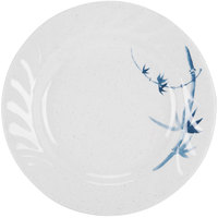 Thunder Group 1208BB Blue Bamboo 8 inch Round Melamine Curved Rim Plate - 12/Pack