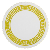 Royal Paper SPRBCRD Customizable 14 pt. 3 3/8 inch Round Greek Key Design Paper Coaster - 10000/Case