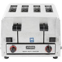 Waring WCT850 Heavy Duty Commercial Combination Switchable Bread and Bagel Toaster 4 Slice - 208V