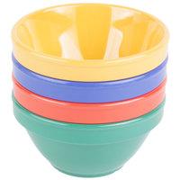 GET BC-170-MIX Diamond Mardi Gras 8 oz. Melamine Bowl, Assorted Colors - 48/Case