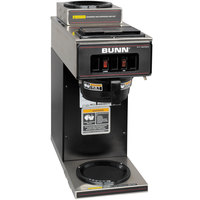 Bunn 13300.0012 VP17-2 Black Low Profile Pourover Coffee Brewer with 2 Warmers