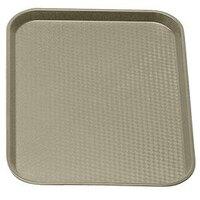 Cambro 1418FF104 Desert Tan 14 inch x 18 inch Customizable Fast Food Tray 12/Case
