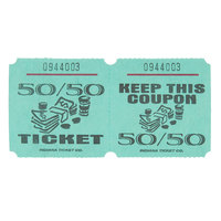 Green 50/50 Marquee Raffle Tickets - 1000/Roll