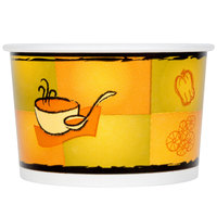 Huhtamaki Chinet 70408 Streetside Print 8 oz. Double-Wall Poly Paper Soup / Hot Food Cup with Plastic Lid   - 250/Case