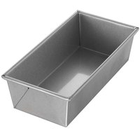Chicago Metallic 49115 1 1/2 lb. Single Open Top Glazed Bread Pan - 10 inch x 5 inch x 3 inch