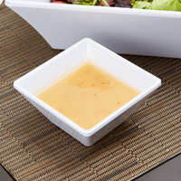 GET ML-257-W Siciliano 3 oz. White Melamine 3 inch Square Petite Bowl   - 48/Case