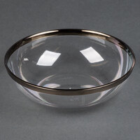 Sabert IMB144S 10 oz. Clear Bowl with Silver Rim - 18 / Pack
