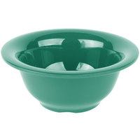 Carlisle 4303809 Durus 10 oz. Meadow Green Rimmed Melamine Nappie Bowl - 24/Case