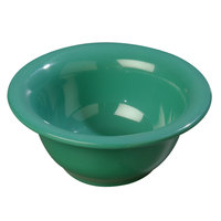 Carlisle 4303809 Durus 10 oz. Meadow Green Rimmed Melamine Nappie Bowl - 24/Case