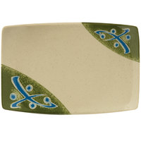 GET 141-TD Japanese Traditional Rectangular Plate 6 3/4 inch x 4 1/2 inch - 12/Case