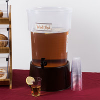 Carlisle 222901 5 Gallon See-Thru Round Beverage Dispenser with Base