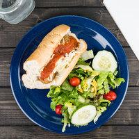 Carlisle 4350035 Dallas Ware 10 1/4 inch Cafe Blue Melamine Plate - 48/Case