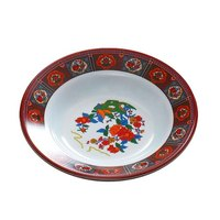 Thunder Group 1107TP Peacock 5 oz. Round Melamine Soup Plate - 12/Pack
