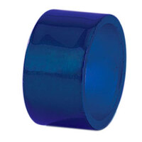 Tabletop Classics AC-6512BL Blue 1 3/4 inch Round Acrylic Napkin Ring