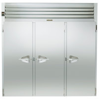 Traulsen RRI332LPUT-FHS 101 inch Stainless Steel Solid Door Roll-Thru Refrigerator