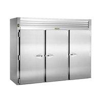 Traulsen RRI332LPUT-FHS 101 inch Stainless Steel Solid Door Roll-Thru Refrigerator