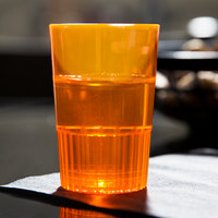Fineline Quenchers 4115-ORG 1.5 oz. Neon Orange Hard Plastic Shooter Glass - 10/Pack