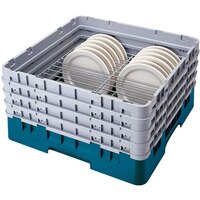 Cambro CRP2046414 Teal Full Size PlateSafe Camrack 4-6 inch